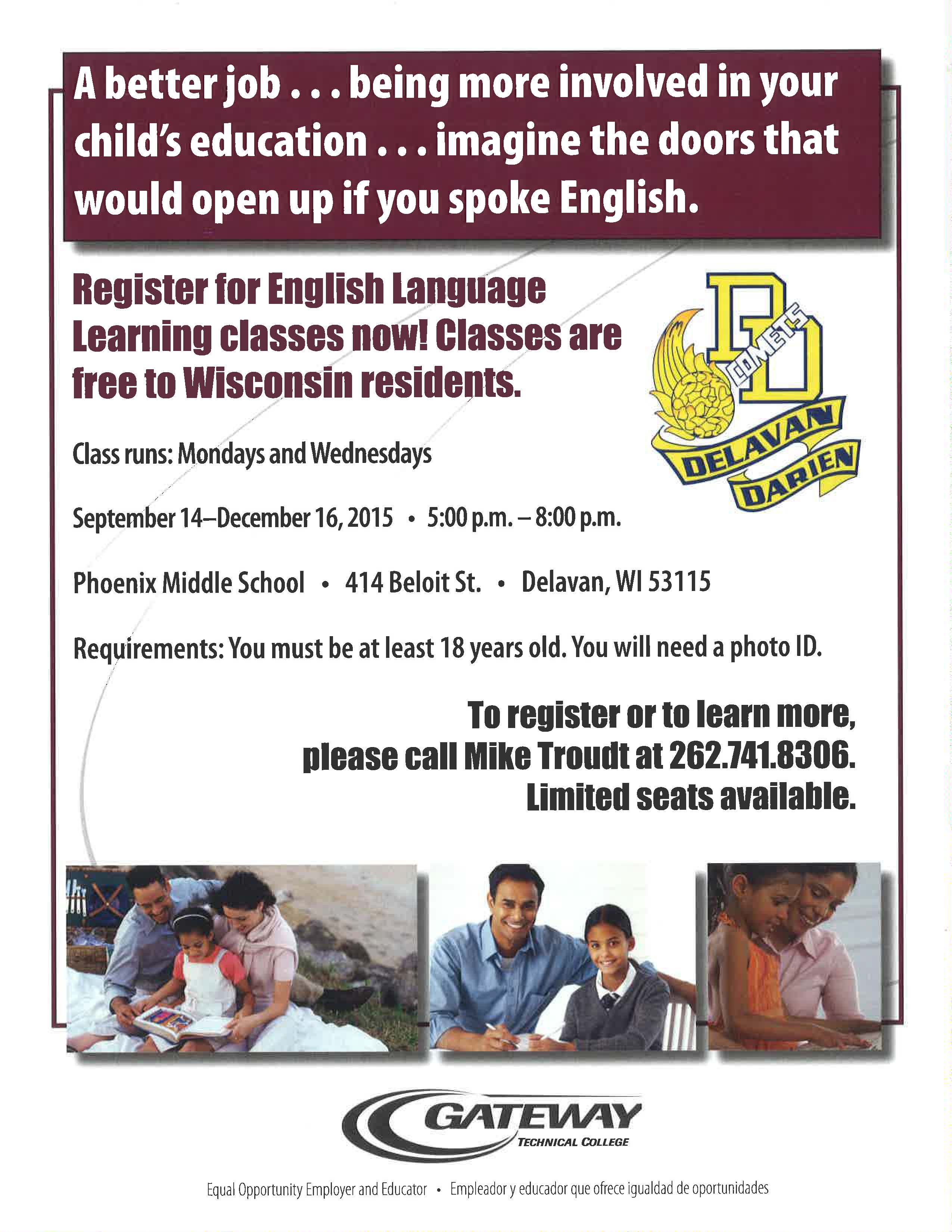 English Classes For Spanish Speaking Adults