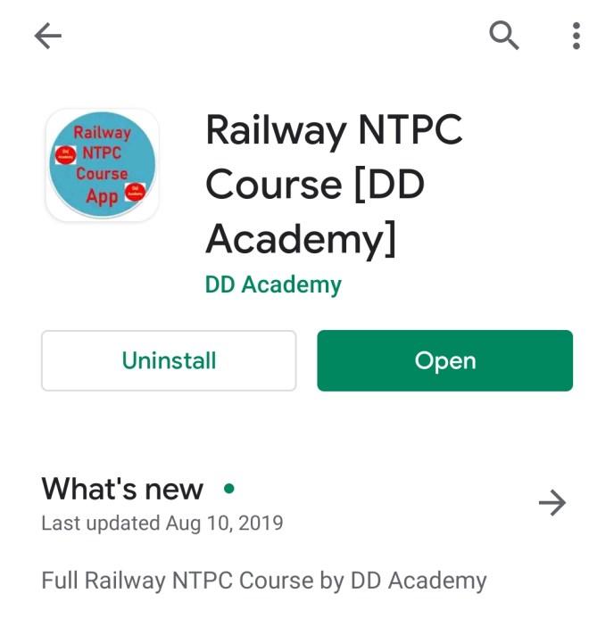 Free Railway NTPC App by DD Academy