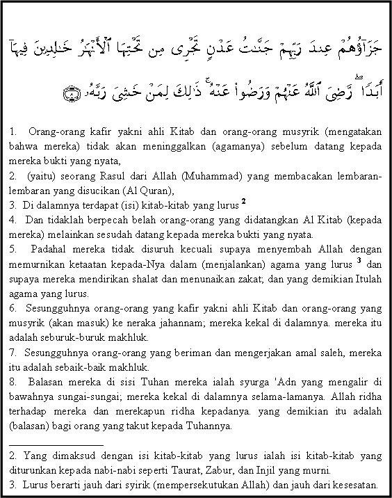 Isi Kandungan Surah Al Bayyinah : kandungan, surah, bayyinah, Kandungan, Surat, Bayinah, BlogGuru