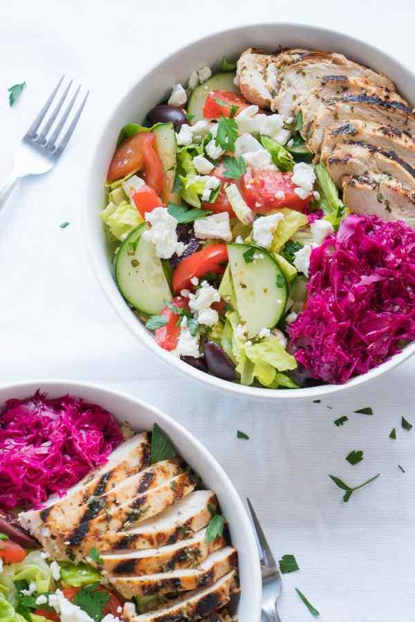 Mediterranean Salad Bowls Free Your Fork