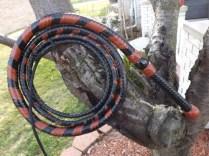 8 Foot Black & Saddle Bull Whip