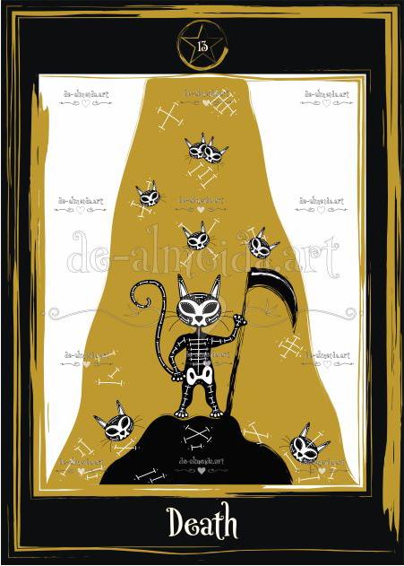 Black cat tarot - Death