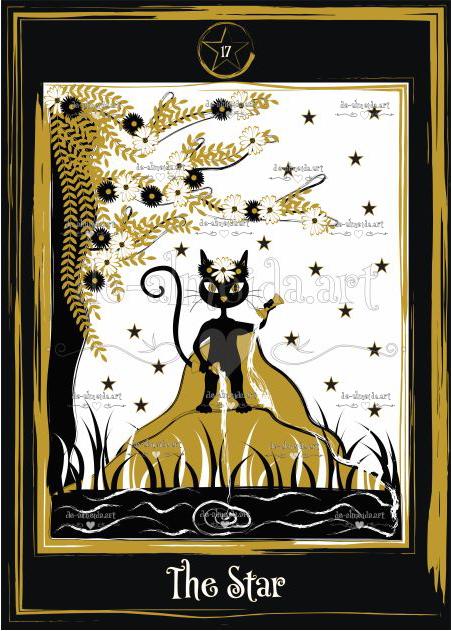 Black cat tarot - The Star