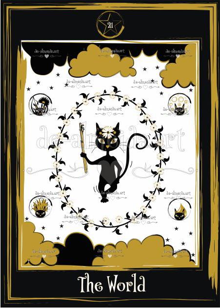 Black cat tarot - The World