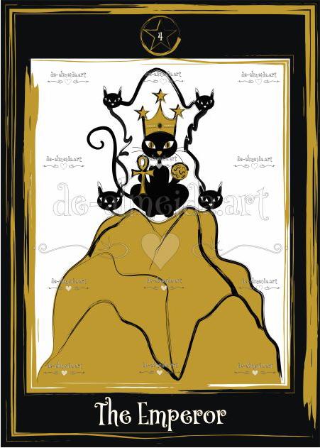 Black cat tarot - The Emperor