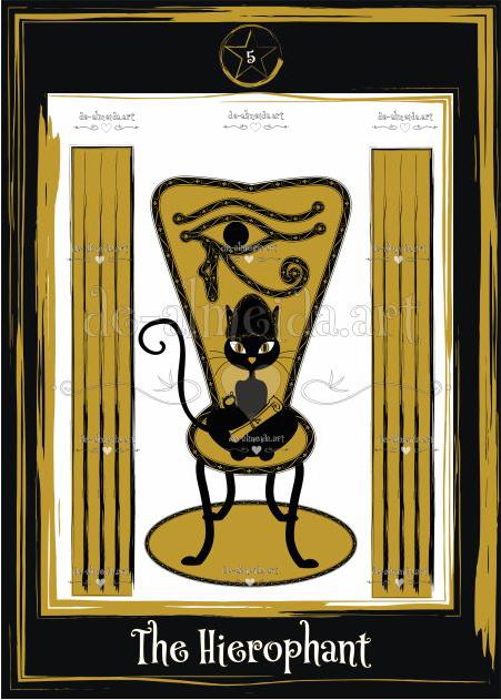 Black cat tarot - The Hierophant