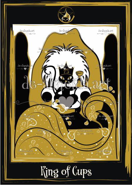 Black cat tarot - King of Cups