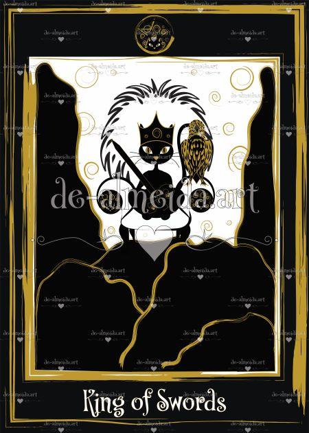 Black cat tarot - King of Swords