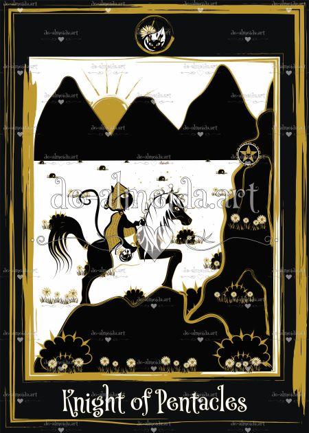 Black cat tarot - Knight of Pentacles