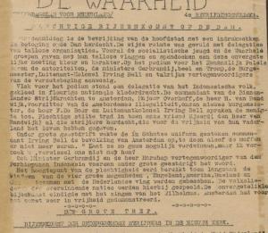 De Waarheid over 9 mei 1945