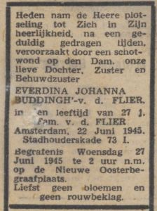 E.J.Buddingh-vd Flier Trouw 26-06-1945