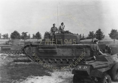 2-RHT on his Churchill tank in Normandy 1944