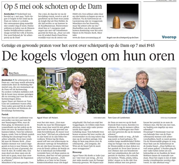 Noord Hollands Dagblad, 7 mei 2015