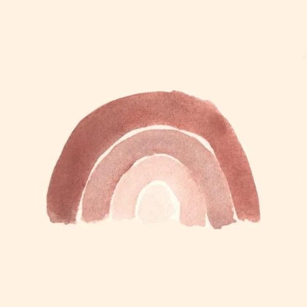 rainbow blush illustration