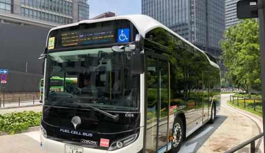 FUEL CELL BUS?都営バスの量産型燃料電池バスに遭遇しました!カッコいい!!