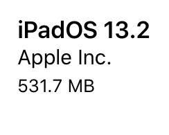 iPadOS13.2(17B84)リリース。16件の機能追加・バグ修正・改善。アップデートすべき?待つべき?サイズ、所要時間、不具合は?