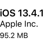 iOS 13.4.1は95.2MB