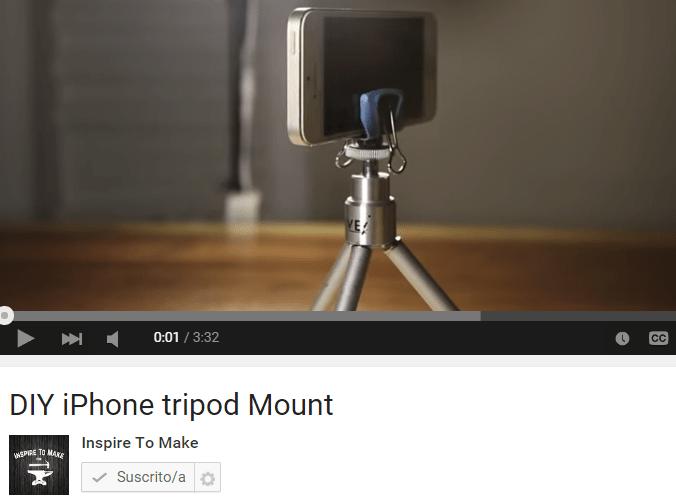 Adaptador de tripode para celular ¡Hazlo tu mismo!