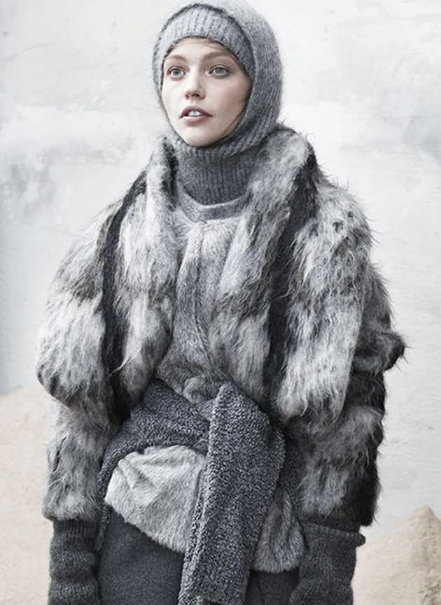 The Last Magazine: SASHA PIVOVAROVA, Fashion, Fall 2013, Grey, Cozy, Coats, Knit, Sweaters Women's Fashion | DeSmitten