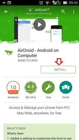 Download aplikasi AirDroid di Playstore