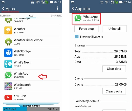 Cara cek versi WhatsApp