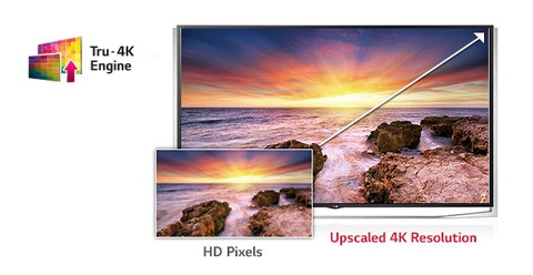 LG Upscaling dengan True 4K Engine