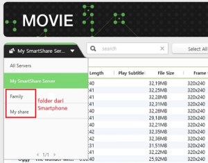 PC-DLNA : Folder dari smartphone