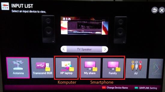 Smart TV-DLNA: Melihat perangkat lain dari smart TV