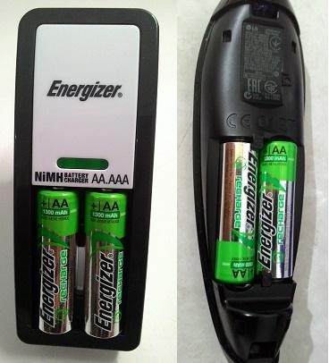 Battery cas ulang dan charger Energizer