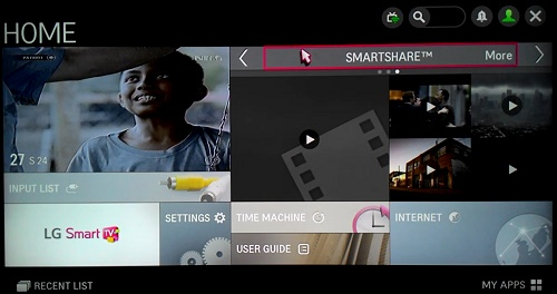 Folder Smartshare - Cara install apps pada Smart TV LG