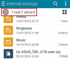 Asus Lollipop upgrade - Cek file Firmware Lollipop di Asus Zenfone 5