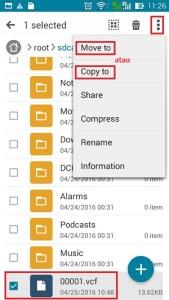 Memindahkan file menggunakan File Manager
