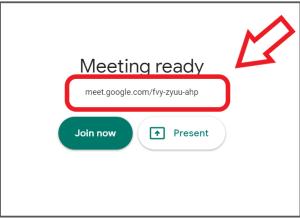 Google Meet-kode