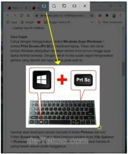 Rectangular Snip Screenshot on laptop