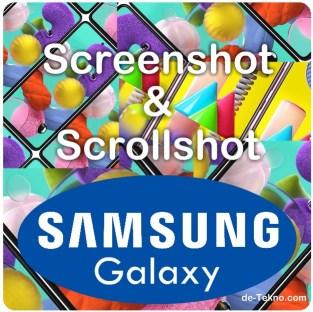Screenshot Scrollshot hp Samsung