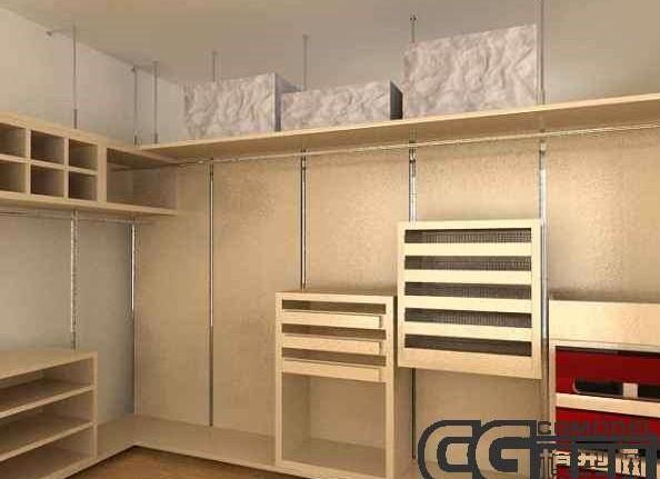 Begehbarer Kleiderschrank 3D Model DownloadFree 3D Models