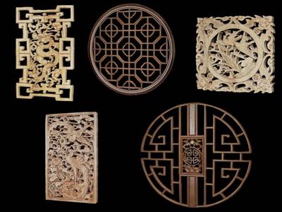 3DModell der chinesischen Holz schnitzen Absatz 35 3D
