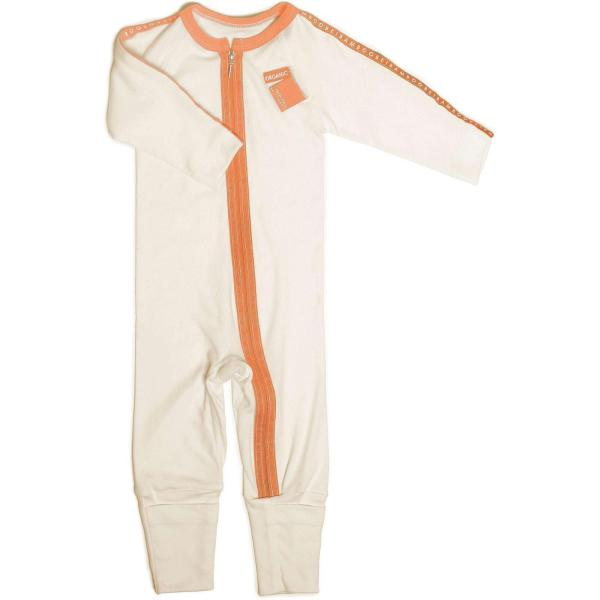 zip jumpsuit for baby. easy nappy change.