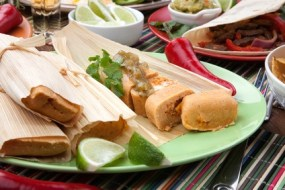 Sehr einfache vegetarische Tamales