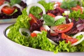Frische Salate und Energetisierung