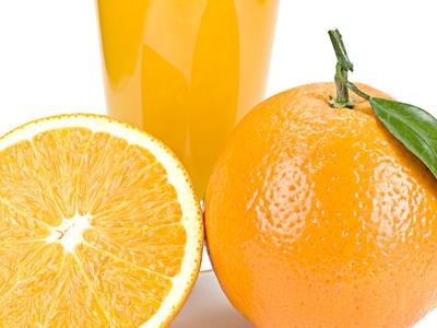 Menü mit Orangen