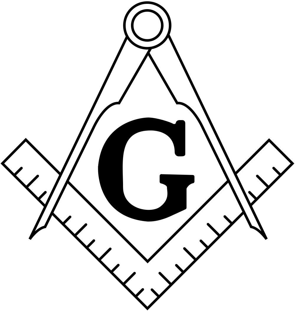 Zirkel und Winkel - Symbol der Freimaurer
