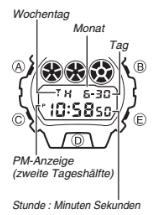 G-Shock DW-6900 / 3230 Uhrzeit Einstellen