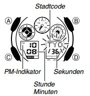 G-Shock GA-100 / 5081 Uhrzeit Einstellen