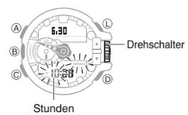 G-Shock GBA-400 / 5413 Uhrzeit Einstellen