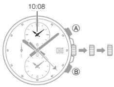 Edifice EFR-302 / 5473 Uhrzeit Einstellen