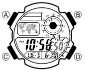 Casio AE-1000 / 3198 Uhrzeit Einstellen