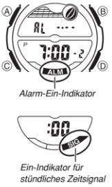 Casio AQW-100 / 5028 Alarmzeit Einstellen