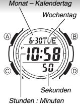 Casio SGW-100 / 3157 Uhrzeit Einstellen