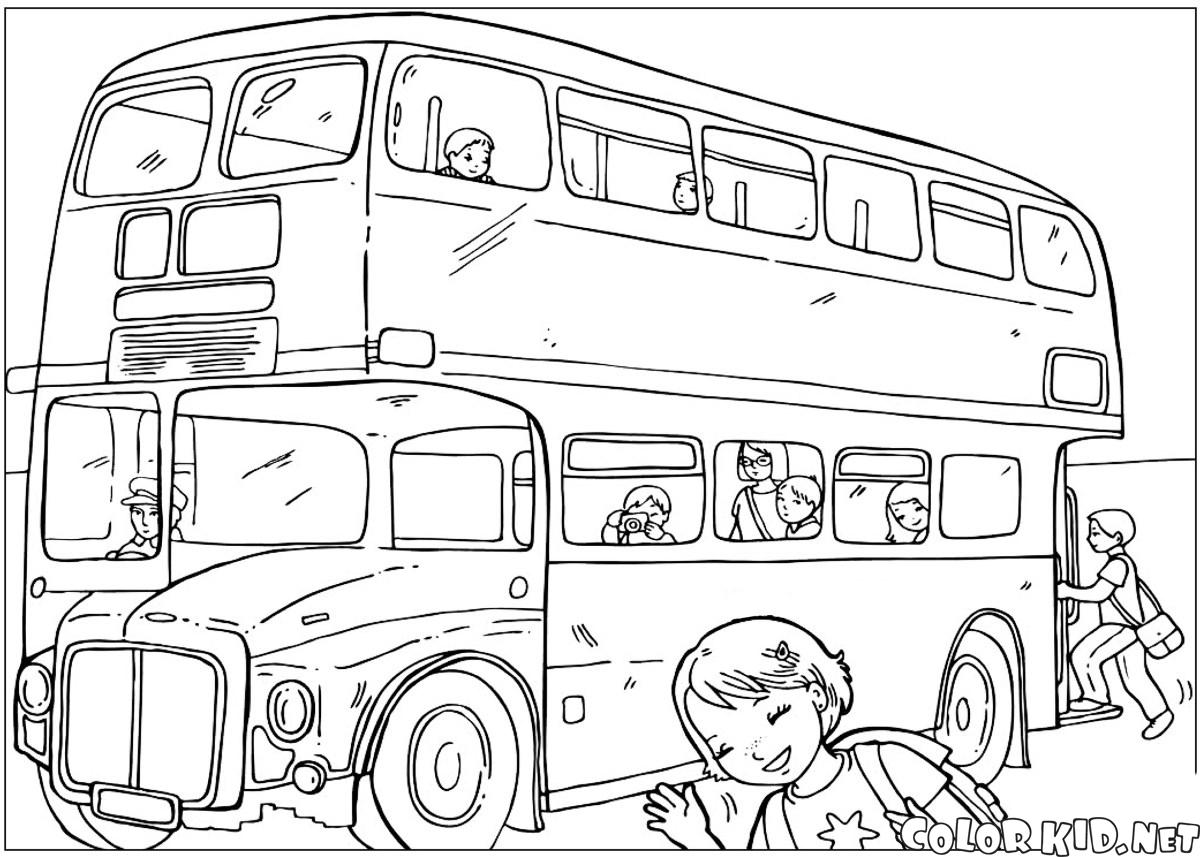 Malvorlagen - Kapital Bus